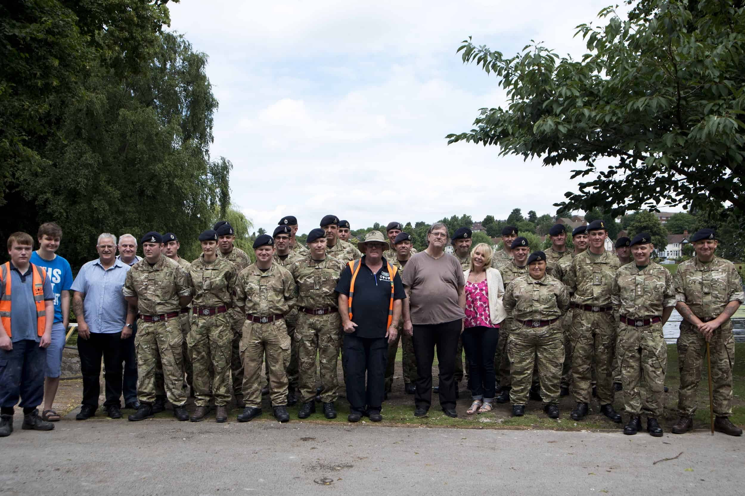 Glendale helped to transform the island, working with the Friends of Brookvale Park, Birmingham Council, and Army Reservists