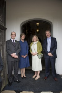 The Marchioness of Salisbury, host of CIH Garden Party,with first three Chartered Horticulturists