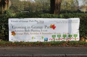 Grange Park Bulb Planting Banner crop