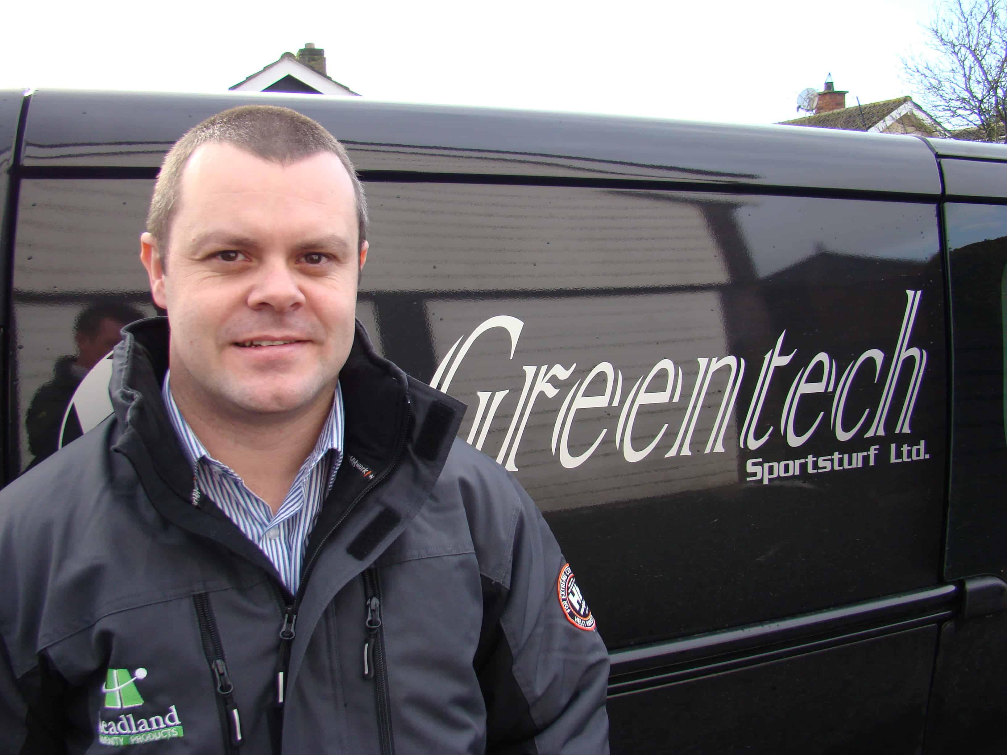 Kyle Irwin from Greentech Ireland Pro Landscaper Magazine