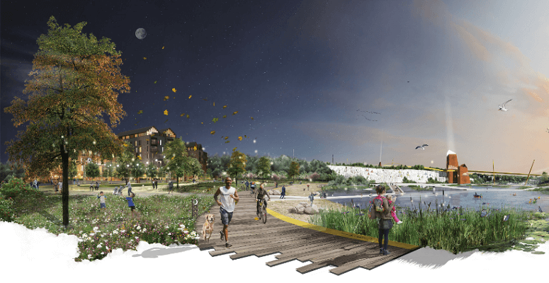 winner of landscape design competition for first garden city of the 21st century